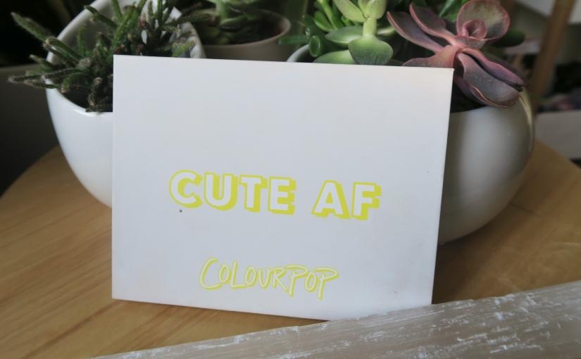 Project Throwback: ColourPop Cute AFPalette