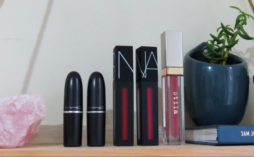 A Week in Lipsticks: Mecca + MAC Favourites